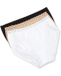 Natori - Bliss French Cut Lace Trimmed Briefs - Lyst