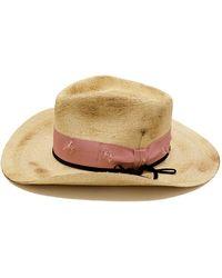 6b65212bbe4fc0 Nick Fouquet - Distressed Straw Cowboy Hat - Lyst