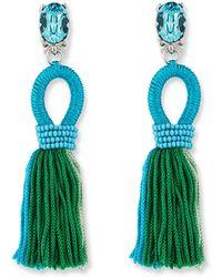 Oscar de la Renta - Short Gradient Looped Tassel Earrings - Lyst