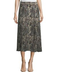 Haute Hippie - Solo Printed Silk Midi Skirt - Lyst