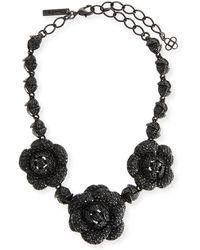 Oscar de la Renta - Gardenia Pavé Swarovski Crystal Necklace - Lyst