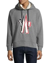 Moncler Grenoble - Logo-embroidered Pullover Hoodie - Lyst