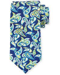 Kiton - Paisley Silk Tie - Lyst
