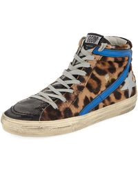 Golden Goose Deluxe Brand - Slide Leopard High-top Sneakers - Lyst