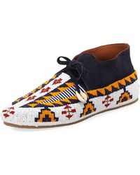 Figue - Wolf Beaded Suede Moccasin - Lyst