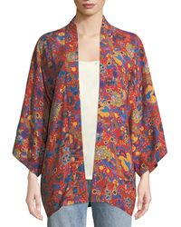 Elizabeth and James - Drew Open-front Floral-print Kimono - Lyst