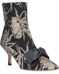 8a92ba36338 Rochas Velvet Kitten-heel Booties in Black - Lyst