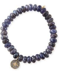Sydney Evan - 14k Small Starburst Diamond & Iolite Bracelet - Lyst