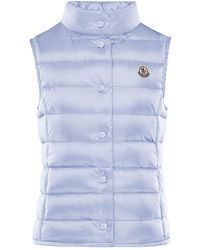 Moncler Liane Quilted Snap-front Vest - Blue