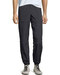 c3df1dc4a33c Lyst - Balenciaga Black Nylon Zipped Track Pants in Black for Men