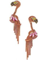 Elizabeth Cole - Georgy Flamingo Earrings - Lyst