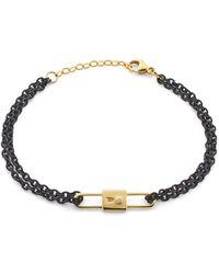 Monica Rich Kosann - 18k Yellow Gold Chain Lock Charm Bracelet - Lyst