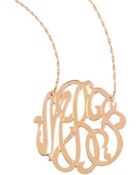 Jennifer Zeuner - Rose Gold Initial Necklace - Lyst