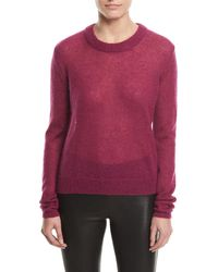 Elizabeth and James - Rosalie Alpaca-blend Crewneck Sweater - Lyst