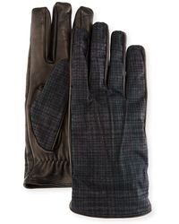 Etro - Tessuto/napa Leather Gloves - Lyst