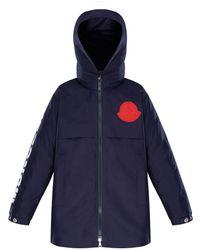Moncler - Hooded Logo Coat - Lyst