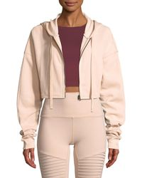 Alo Yoga - Extreme Crop Hooded Zip-front Jacket - Lyst