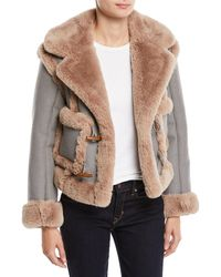Opening Ceremony - Insomniac Reversible Faux-fur Houndstooth Jacket - Lyst