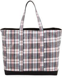 Helmut Lang - Woven Plaid Shopping Bag - Lyst