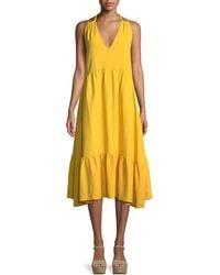 M.i.h Jeans - Lita V-neck A-line Cotton Dress - Lyst
