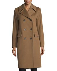 Fleurette - Notched-collar Double-breasted Wool Coat - Lyst