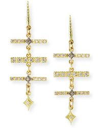 Armenta - Old World Diamond Triple-bar Earrings - Lyst