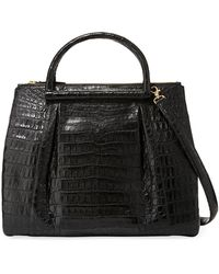 Nancy Gonzalez - Large Crocodile Plisse Tote Bag - Lyst