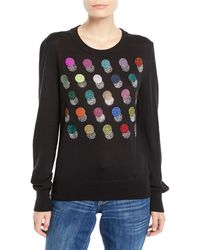 Libertine - Crewneck Long-sleeve Multicolor Beaded-dots Cashmere-silk Sweater - Lyst