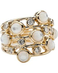 Ippolita - Diamond & Mother-of-pearl Ring - Lyst