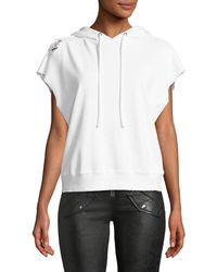 RTA - Rowan Sleeveless Hooded Sweatshirt W/ Distressing - Lyst