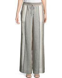 Lafayette 148 New York - Hester Multi-striped Linen Drawstring Trousers - Lyst