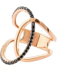 Lana Jewelry - Reckless Vol. 2 14k Rose Gold Illuminating Ring With Black Diamonds - Lyst