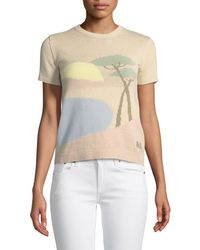 Ralph Lauren Collection - Crewneck Short-sleeve Pastoral Scenic Intarsia Jumper - Lyst