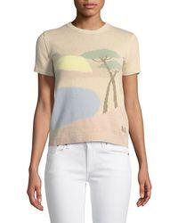 Ralph Lauren Collection - Crewneck Short-sleeve Pastoral Scenic Intarsia Jumper - Lyst