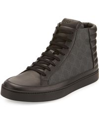 Gucci - Common Canvas & Leather High-top Sneaker - Lyst
