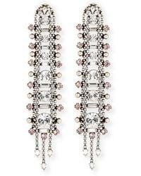 DANNIJO - Almendra Elongated Crystal Drop Earrings - Lyst