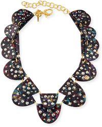 Lele Sadoughi - Spotlight 2-row Semicircle Necklace - Lyst
