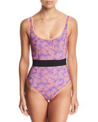 Diane von Furstenberg - Classic Printed One-piece Swimsuit - Lyst