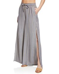 Onia - Chloe Metallic Wide-leg Coverup Pants - Lyst