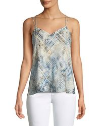 Haute Hippie - Reflected Light Silk Cami Top With Open Sides - Lyst