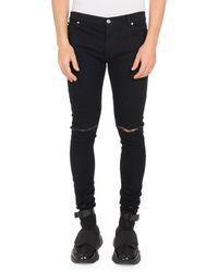 4a572b79 Balmain Faded Slim-fit Skinny Jeans in Black for Men - Lyst