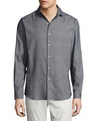 Ralph Lauren - Textured Silk-cotton Sport Shirt - Lyst