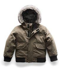 The North Face - Gotham Down Hooded Jacket W/ Faux-fur Trim - Lyst