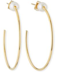 Vita Fede - Sfera Pearl Hoop Earrings - Lyst