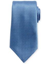Ermenegildo Zegna - Textured Solid Silk Tie - Lyst