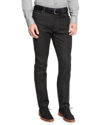 Ermenegildo Zegna - Five-pocket Stretch-denim Jeans - Lyst