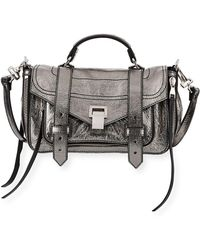 Proenza Schouler - Ps1+ Tiny Metallic Leather Satchel Bag - Lyst