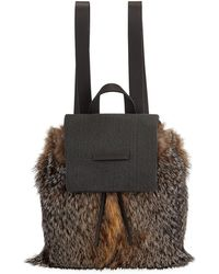 Brunello Cucinelli - Fox Fur And Monili Backpack - Lyst