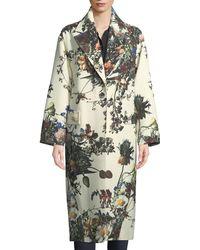 Adam Lippes | Floral Print Cocoon Coat | Lyst