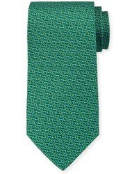 Ferragamo - Forte Interlocking Gancini Silk Tie - Lyst